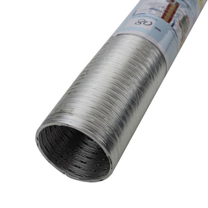 Aluminium-Flexrohr - 2-lagig - nicht brennbar - Innen-Ø 80 bis 200 mm - bis 350 °C - Länge 5 m