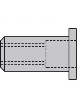 Nit nakrętki GESIPA® - głowica kopuły (standard) - aluminium