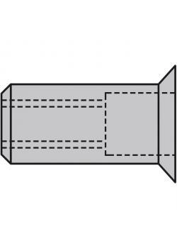 Nit nakrętki GESIPA® - Aluminium - stożkowy (90 °)