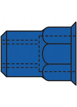 Blindnietmuttern GESIPA® - Stahl Teilsechskant - Kleinkopf