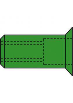 Nit nakrętki GESIPA® - stal nierdzewna A4 - stożkowym