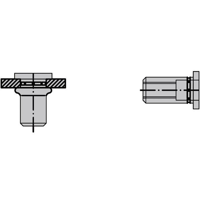 Blindnietmuttern PolyGrip® - Alu - Flachrundkopf (standard)
