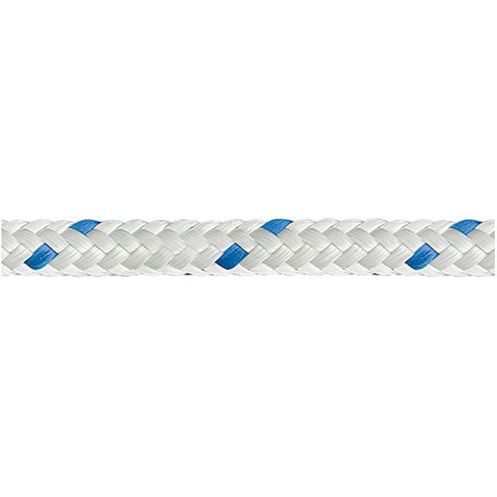 Arklinje - polyester - flätad - 16-lags - tåravtät - våtsäker - vit / blå - på spole - pris per rull