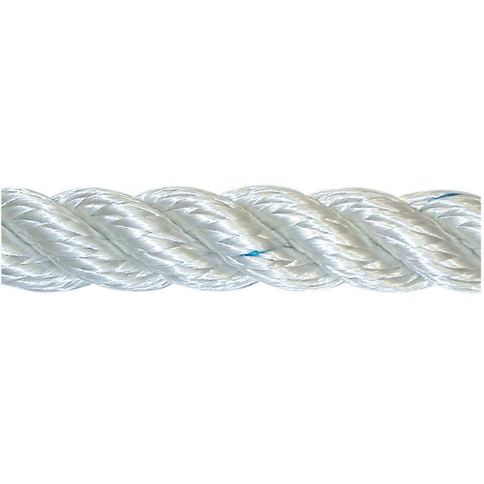 Kabel - vände - nylon - vit - på spole
