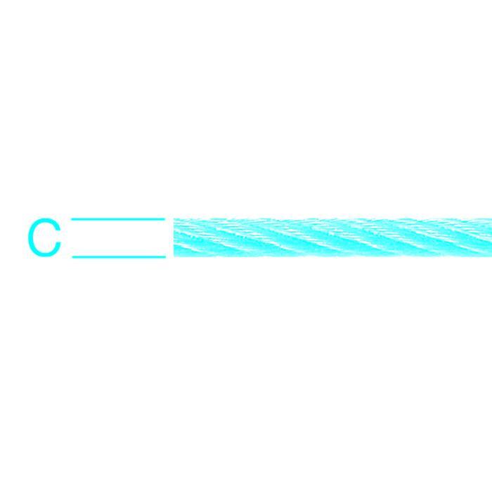 Stahldrahtseil - Edelstahl (V2A) - 133-drähtig - Ø 5 mm bis 6 mm - auf Spule - Preis per Rolle