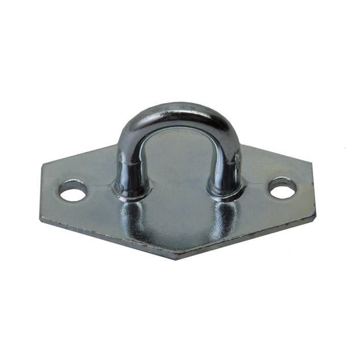 Ösenplatte - Stahl - verzinkt - passend für Drahtüberfallen - VE 25 Stück - Preis per VE