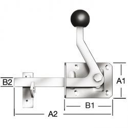Gartentorfalle - Type 2 - à droite et à gauche