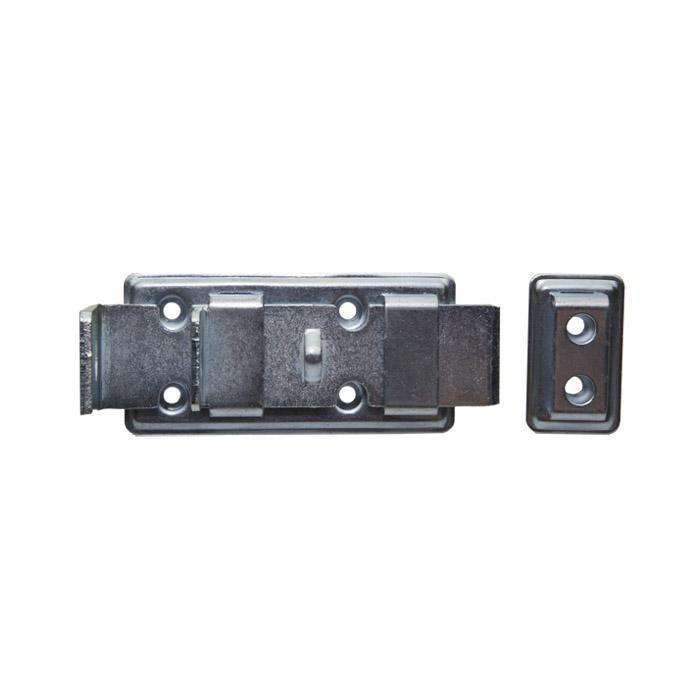 Sicherheits-Standardriegel - Stahl - gerade - verzinkt oder brüniert -  mit Schlaufe