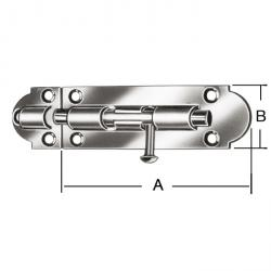 Grendelriegel - Stahl - verzinkt - mit kombinierter Schlaufe - 10 Stück - Preis per VE