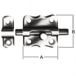 Grendelriegel - Stahl - verzinkt - mit Schlaufe - ohne Feder - VE 20 Stück - Preis per VE