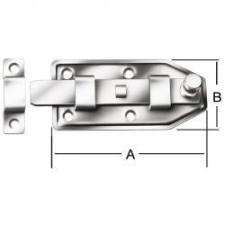 boulon Doorknob - droite - galvanisé