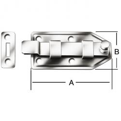 Doorknob verrou - coudé - galvanisé - 10 pièces