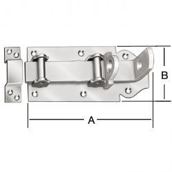Rouleau boulon Lock - galvanisé - dur - avec boucle - 5 pièces