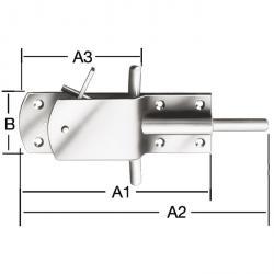 Sicherheits-Stallriegel - Stahl - mit verdeckter Sperrklinke - VE 5 Stück - Preis per VE