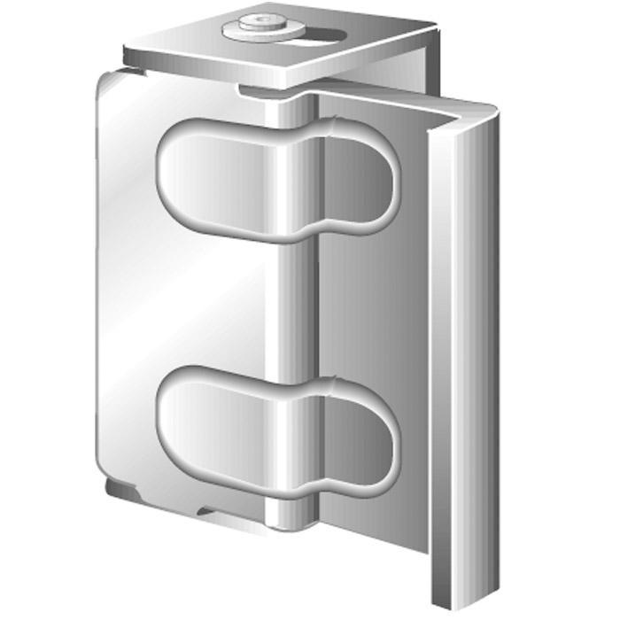 Fenster- und Türsicherung - Stahl - Maße A 16 bis 25 mm -  inkl. Montagezubehör - VE 10 Stück - Preis per VE