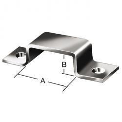 Riegelschlaufe - Stahl - verzinkt - mit Schraublöchern - Preis per VE
