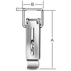 Spannverschluss - DIN 3133 - mit Schlossöse -  ohne Schließhaken - Preis per VE
