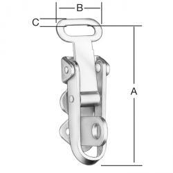 Levier de presse - avec une serrure - galvanisé - 50 pièces
