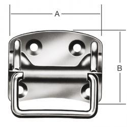 Kistengriff - Materialstärke 1,25 bis 1,75 mm - Maße 85x70 bis 135x110 mm - VE 5 und 10 Stück - Preis per VE
