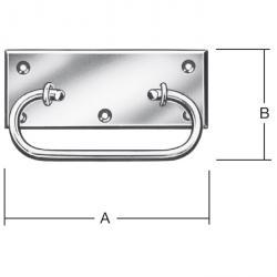 Kistengriff - Stahl verzinkt - Maße 108x45 bis 118x50 mm - Materialstärke - 1,75 mm - VE 10 Stück - Preis per VE