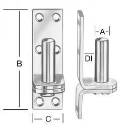 Aufschraubkloben - Stahl - auf Platte zum Aufschrauben