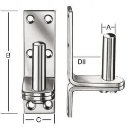 Aufschraubkloben - Stahl - verzinkt oder feuerverzinkt - auf Platte zum Aufschrauben