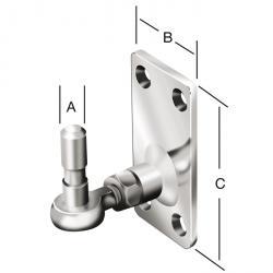 Kloben - Stahl - verstellbar - verzinkt - Verstellbereich bis 15 mm - VE 4 Stück - Preis per VE