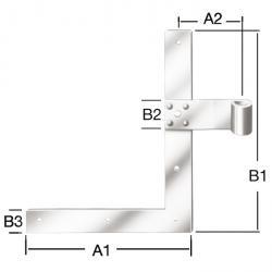 Shutter-vinkel strip - förzinkat - för Dorn-Ø 13 mm - 2 stycken (en vänster, en höger)