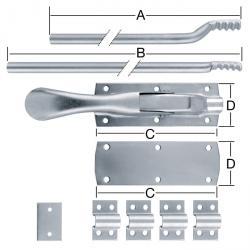 Tortreibriegel - Stahl - mit Rundstangen - verzinkt - Preis per Stück