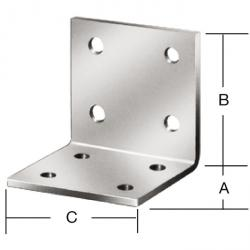 Connecteur d'angle - version légère - épaisseur 2 mm - prix par unité de mesure