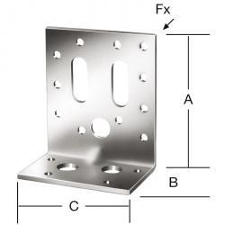 Connecteur d'angle - galvanisé sendzmir - avec marquage CE - prix par unité de mesure