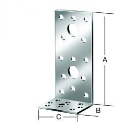 Connecteur coudé - galvanisé sendzimir - pieds inégaux - marquage CE - prix du pack