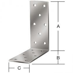 Connecteur cornière - galvanisé sendzimir - Marquage CE - lot de 100 pièces - prix du pack