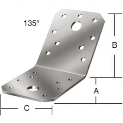 Connecteur de jambe de force - galvanisé sendzimir - angle 135 ° - épaisseur 2,5 mm - prix du pack