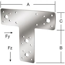 T-Flachverbinder - sendzimir verzinkt - CE-Kennzeichnung - Preis per VE