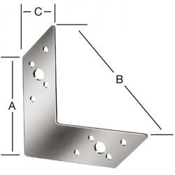 Eckverbinder - sendzimir verzinkt - Stärke 2 mm - CE-Kennzeichnung - Preis per VE