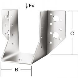 Balkenschuh - Typ A - sendzimir verzinkt -  mit CE-Kennzeichnung - VE 10 Stück - Preis per VE