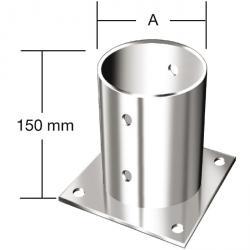 Aufschraubhülsen - für Rundholzpfosten - feuerverzinkt - VE 10 Stück