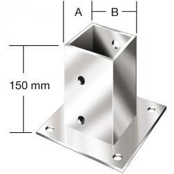 Aufschraubhülsen - für Holzpfosten - feuerverzinkt - VE 10 oder 6 Stk.