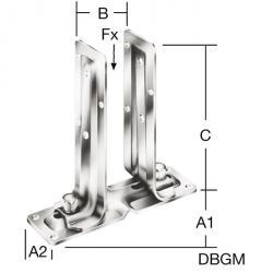 Stützenschuh - aufschraubbar - seitenverstellbar - VE 10 Stück