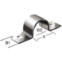 """Collier de serrage - acier - Ø du conduit 3/8"""" à 2"""" - galvanisé - Prix par paquet"""