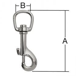 Karabinerhaken - Stahl - vernickelt - SB-verpackt -  Preis per VE