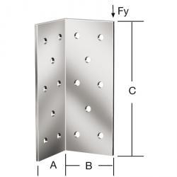 Eckverbinder - sendzimir verzinkt - CE-Kennzeichnung - VE 50 Stück - Preis per VE