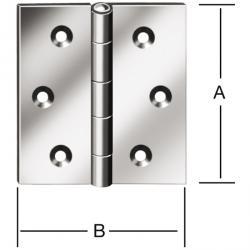 Gångjärn - DIN 7954 C - valsat - kantig - brun eller vit