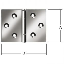 Hinge - rolled - wide - stainless steel - price per pack
