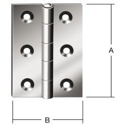 Hinge - rolled - half wide - Brass