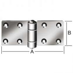 Hinge - rolled - extra strong - wide - galvanized