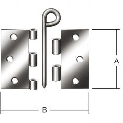 Hinge - rolled - käntig - with Ring Pin