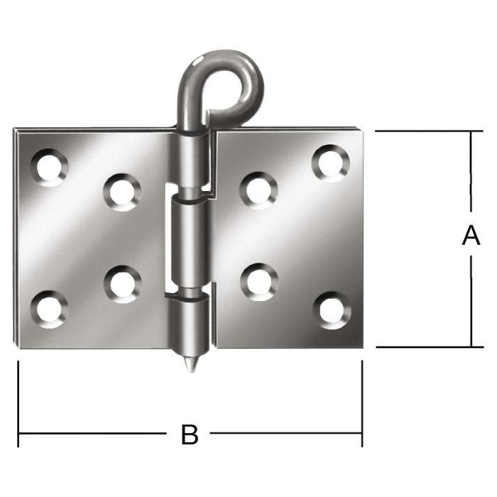 Kulissenscharnier - geschlagen - DIN 56923 - VE 50 Stück - Preis per VE