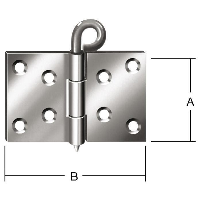Kulissenscharnier - gerollt - 2 mm Axialspiel - VE 50 Stück - Preis per VE